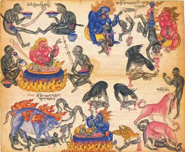 地狱变相图【蒙古绘画】 第10张