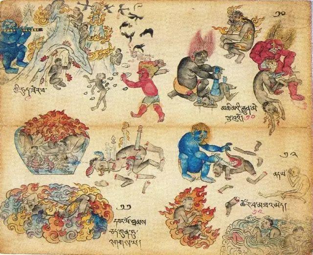 地狱变相图【蒙古绘画】 第8张