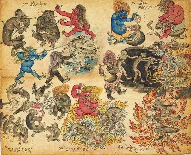 地狱变相图【蒙古绘画】 第14张