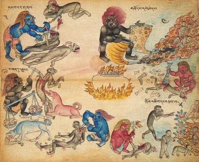 地狱变相图【蒙古绘画】 第13张