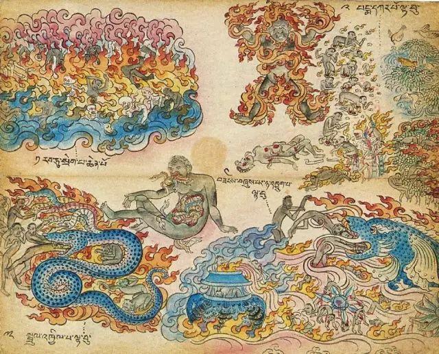 地狱变相图【蒙古绘画】 第16张