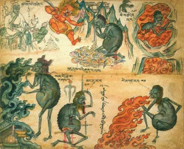 地狱变相图【蒙古绘画】 第23张
