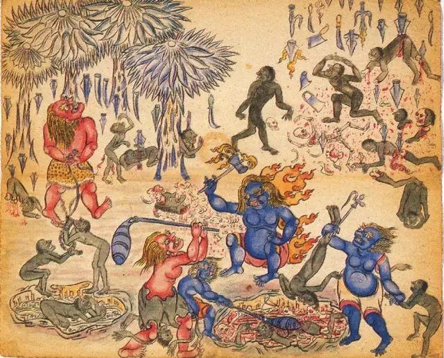 地狱变相图【蒙古绘画】 第26张