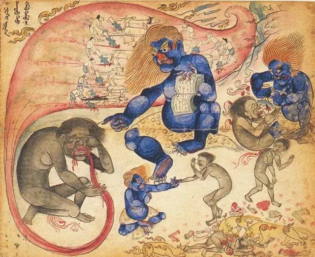地狱变相图【蒙古绘画】 第24张