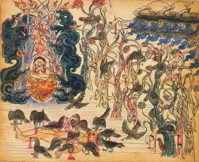 地狱变相图【蒙古绘画】 第25张