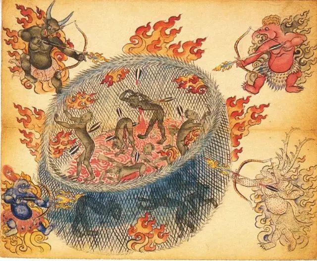 地狱变相图【蒙古绘画】 第30张