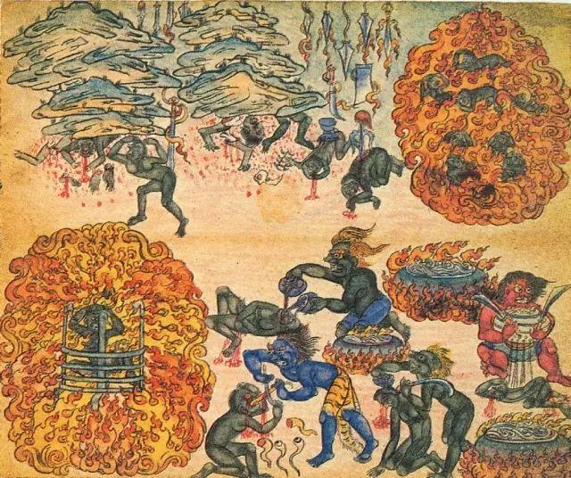 地狱变相图【蒙古绘画】 第35张