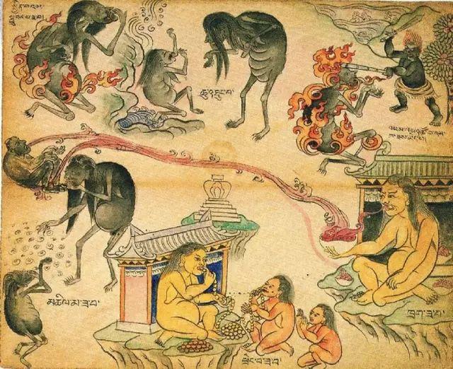 地狱变相图【蒙古绘画】 第37张
