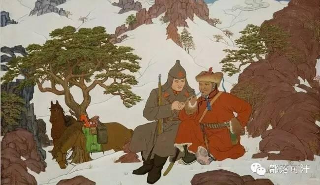 【经典】蒙古国上世纪绘画作品,那时的人那时的风景~ 第15张
