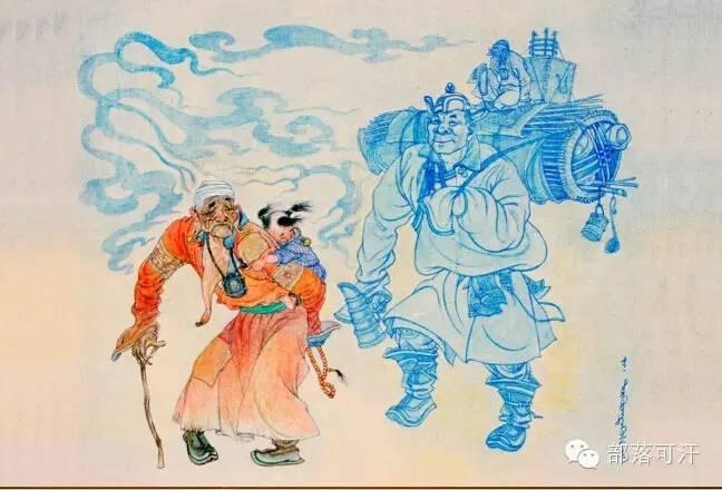 【经典】蒙古国上世纪绘画作品,那时的人那时的风景~ 第16张