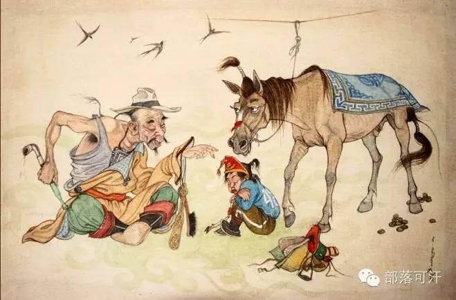 【经典】蒙古国上世纪绘画作品,那时的人那时的风景~ 第19张