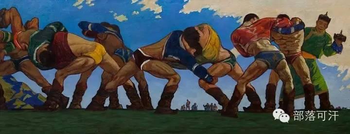 【经典】蒙古国上世纪绘画作品,那时的人那时的风景~ 第18张
