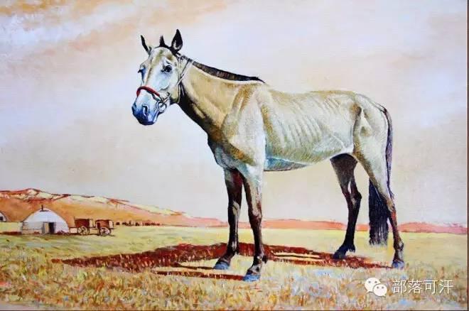 【经典】蒙古国上世纪绘画作品,那时的人那时的风景~ 第23张