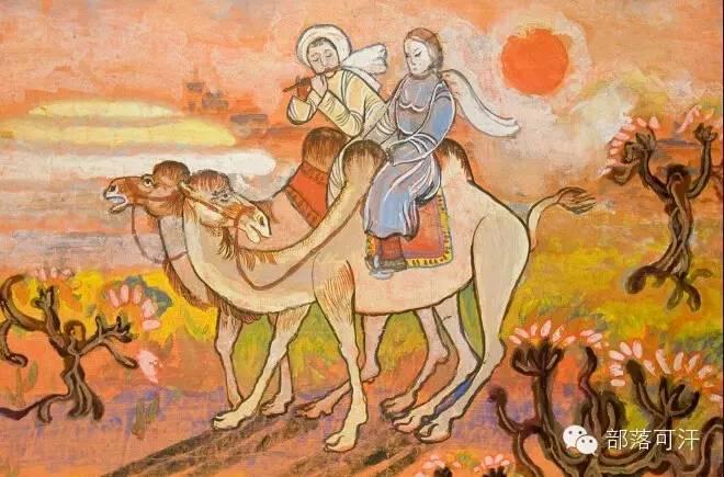 【经典】蒙古国上世纪绘画作品,那时的人那时的风景~ 第21张