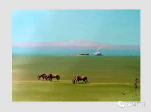 【经典】蒙古国上世纪绘画作品,那时的人那时的风景~ 第26张