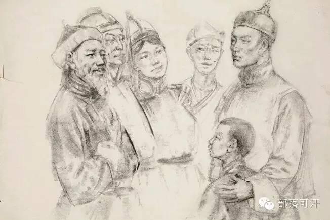 【经典】蒙古国上世纪绘画作品,那时的人那时的风景~ 第29张