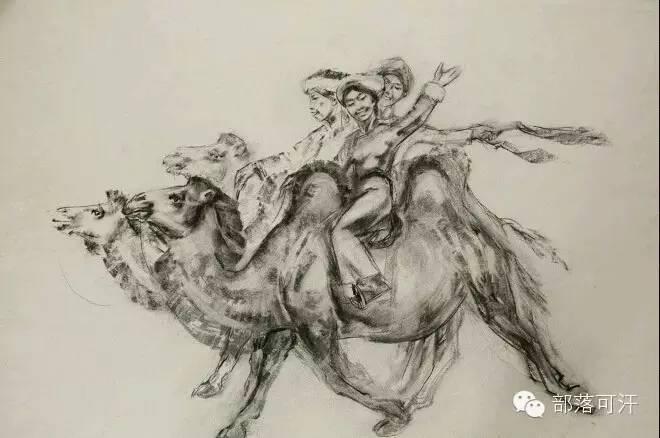 【经典】蒙古国上世纪绘画作品,那时的人那时的风景~ 第30张