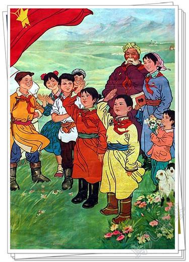 年华风格的蒙古题材画 第3张