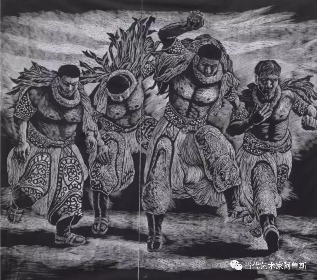 《艺术世界本期专访》蒙古族版画家德力格仁贵艺术之路 第4张