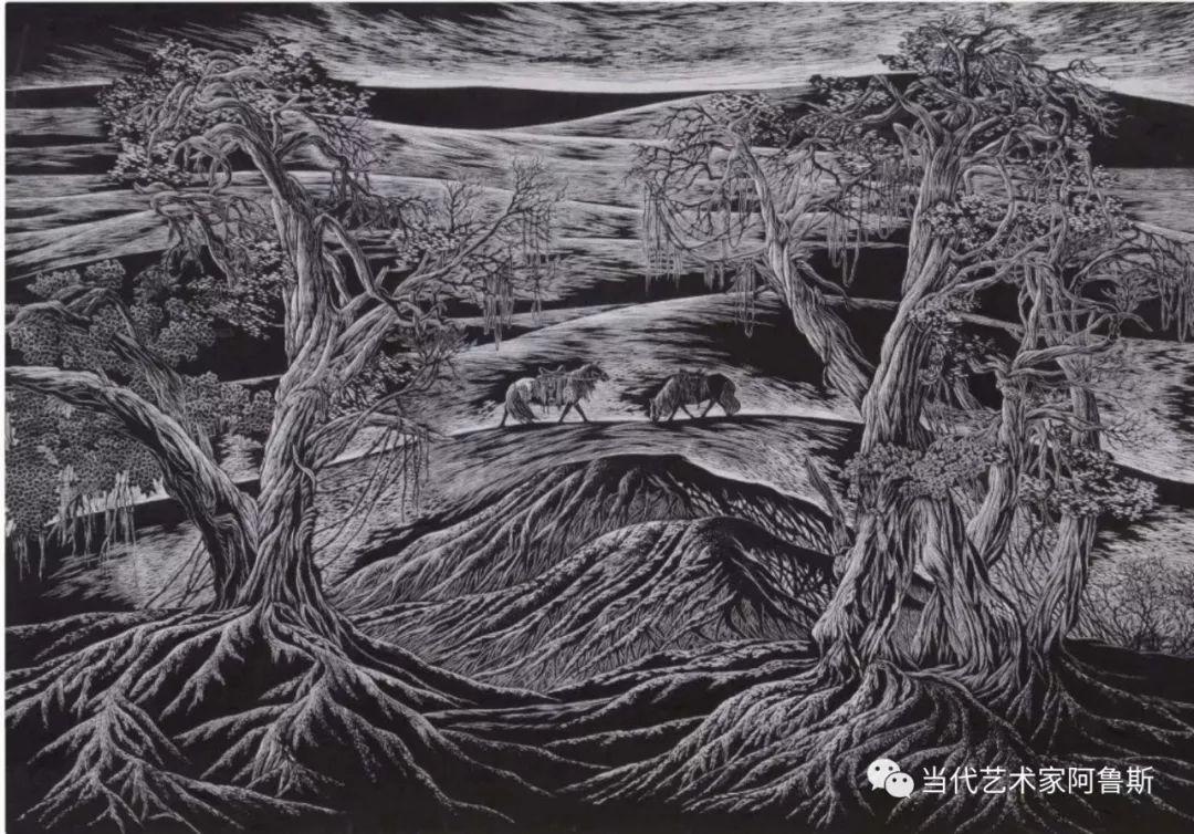 《艺术世界本期专访》蒙古族版画家德力格仁贵艺术之路 第5张