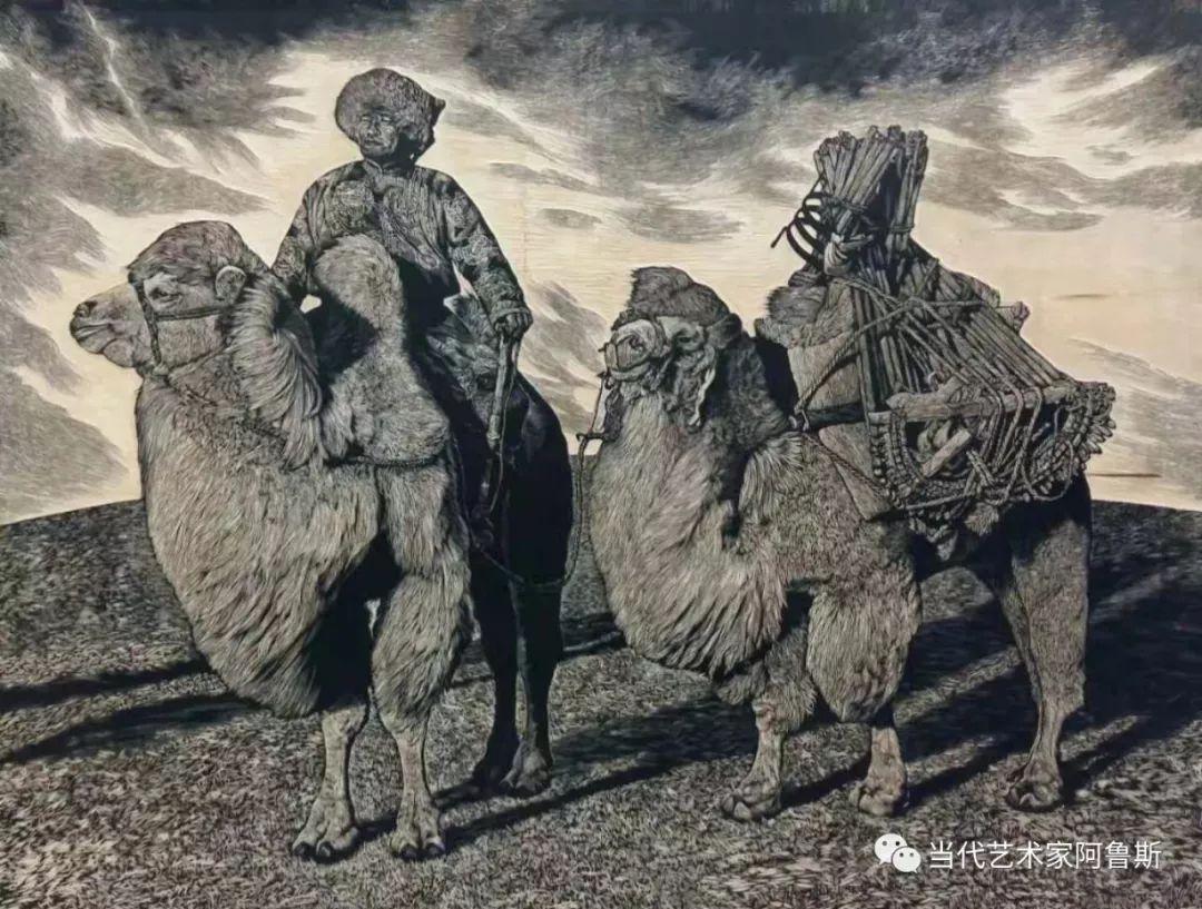 《艺术世界本期专访》蒙古族版画家德力格仁贵艺术之路 第6张