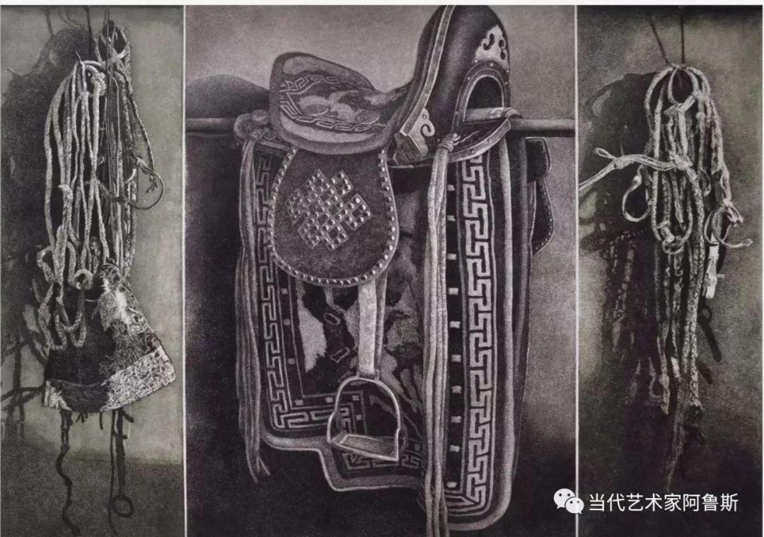 《艺术世界本期专访》蒙古族版画家德力格仁贵艺术之路 第7张