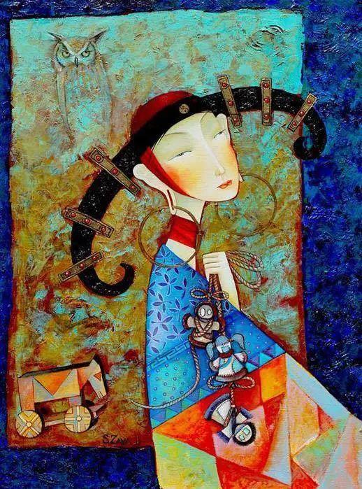 独具艺术感!蒙古国画家Zayasaikhan Sambuu的的作品每一幅值得收藏 第3张