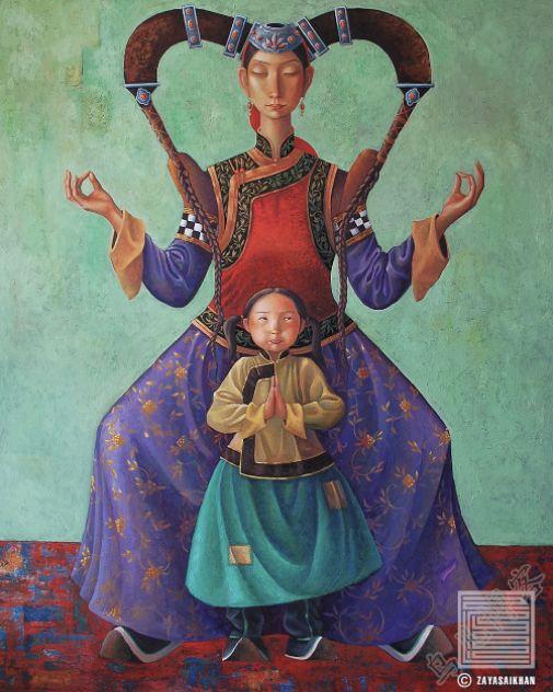 独具艺术感!蒙古国画家Zayasaikhan Sambuu的的作品每一幅值得收藏 第5张