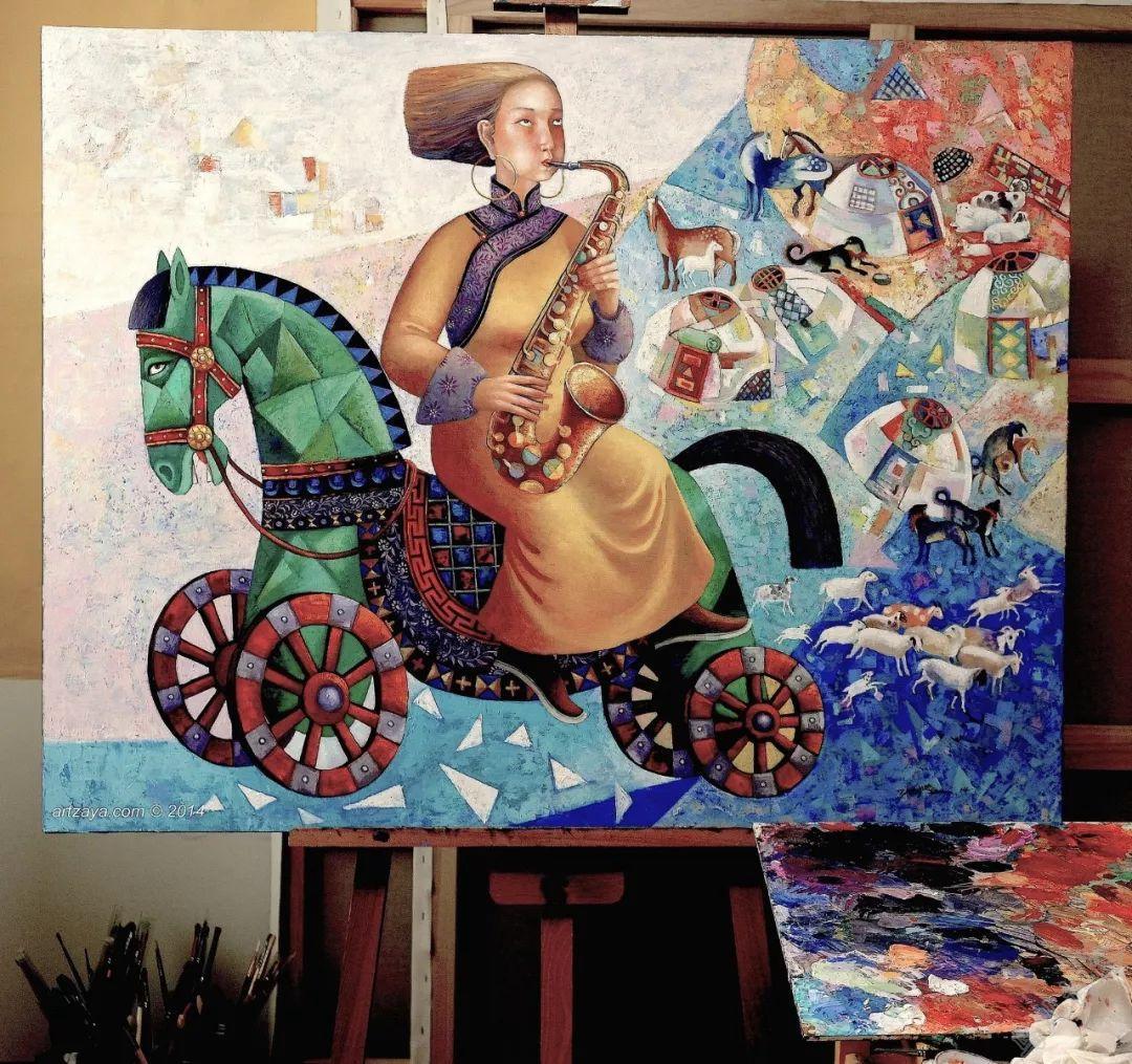 独具艺术感!蒙古国画家Zayasaikhan Sambuu的的作品每一幅值得收藏 第8张