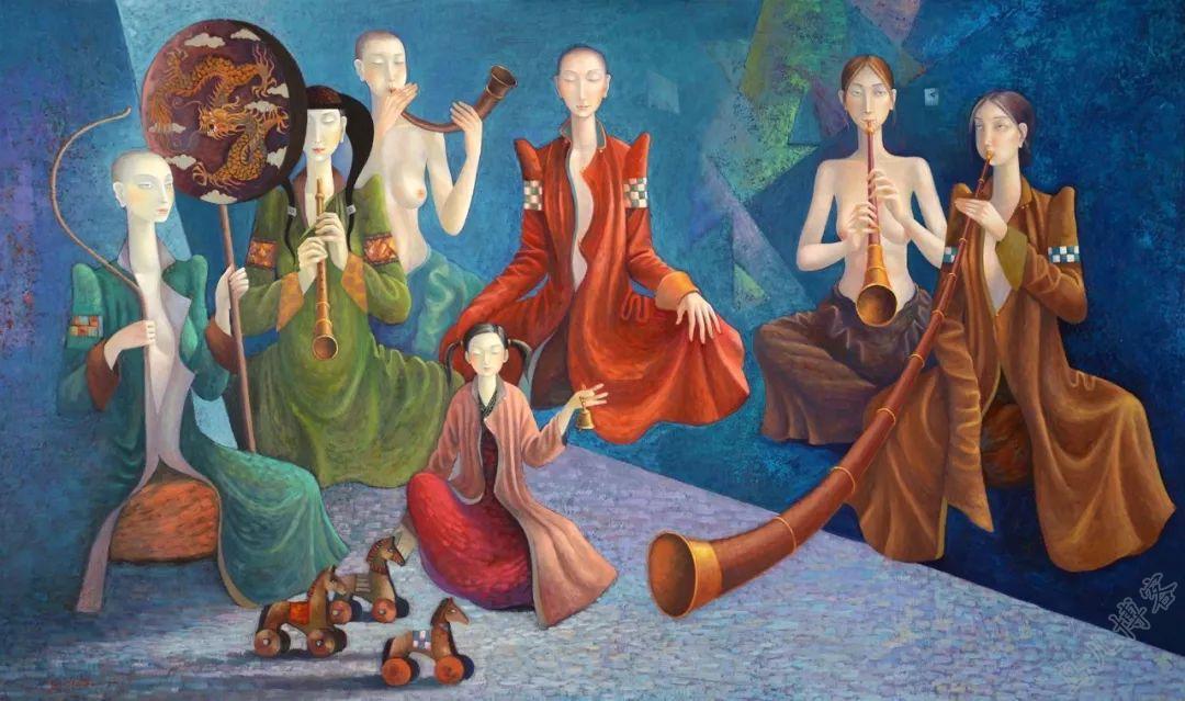 独具艺术感!蒙古国画家Zayasaikhan Sambuu的的作品每一幅值得收藏 第7张