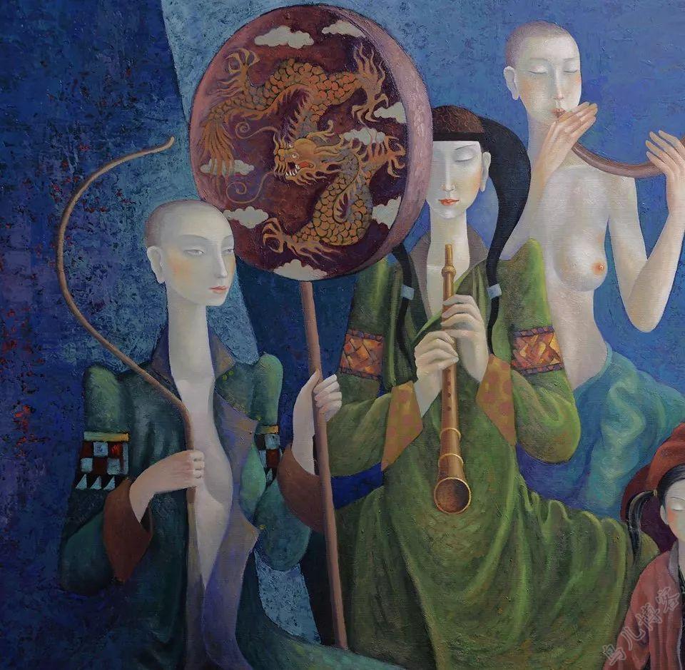 独具艺术感!蒙古国画家Zayasaikhan Sambuu的的作品每一幅值得收藏 第9张