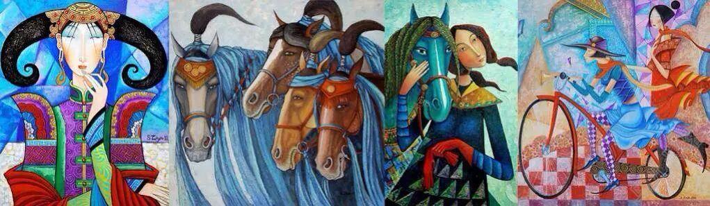 独具艺术感!蒙古国画家Zayasaikhan Sambuu的的作品每一幅值得收藏 第11张