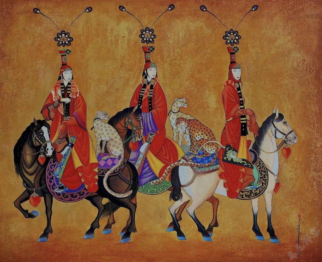 独具艺术感!蒙古国画家Zayasaikhan Sambuu的的作品每一幅值得收藏 第14张