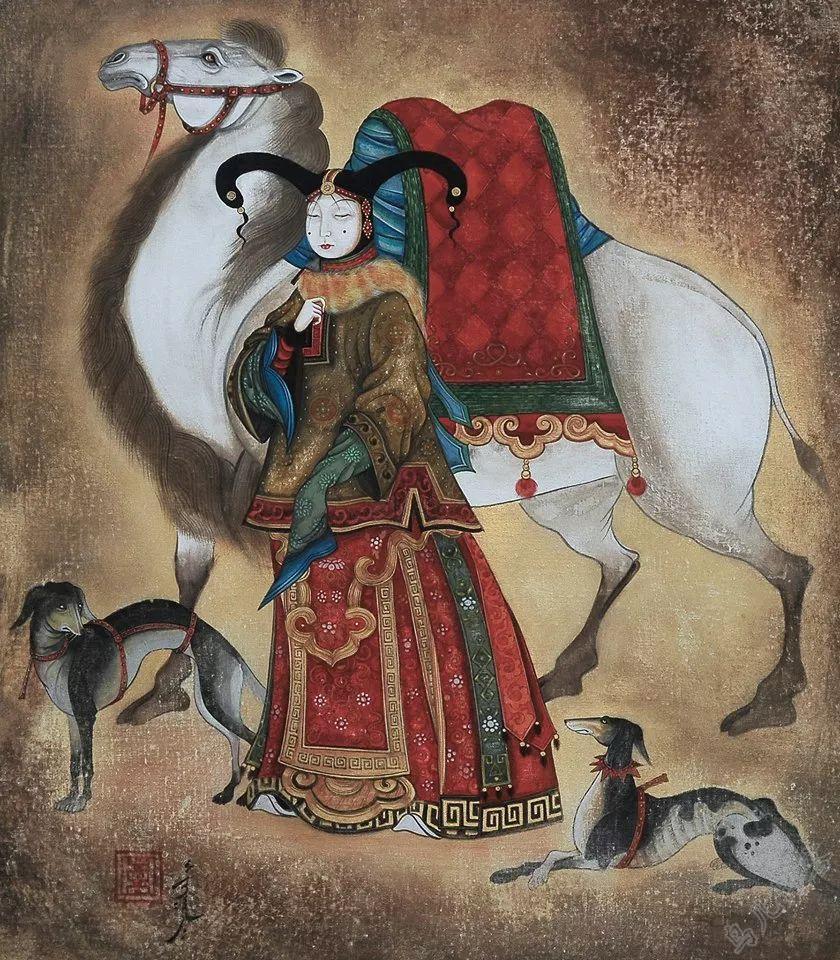 独具艺术感!蒙古国画家Zayasaikhan Sambuu的的作品每一幅值得收藏 第12张