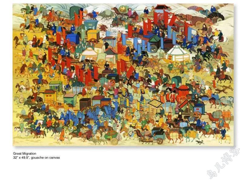 插画 | 东西文化的融合 —— 旅美蒙古女画家  Solongo Mellecker 插画作品欣赏