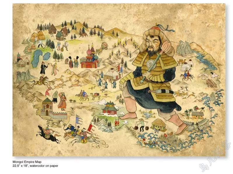 插画 | 东西文化的融合 —— 旅美蒙古女画家  Solongo Mellecker 插画作品欣赏 第7张
