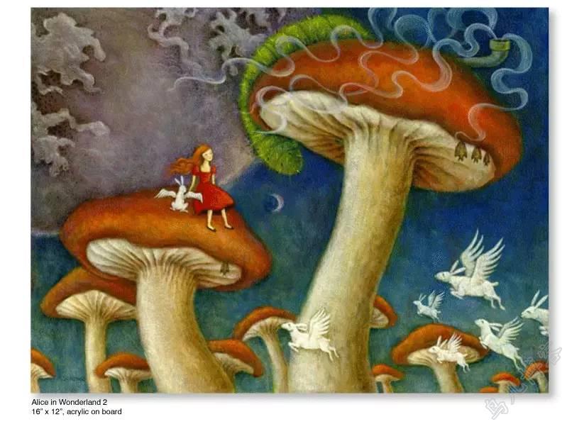 插画 | 东西文化的融合 —— 旅美蒙古女画家  Solongo Mellecker 插画作品欣赏 第13张