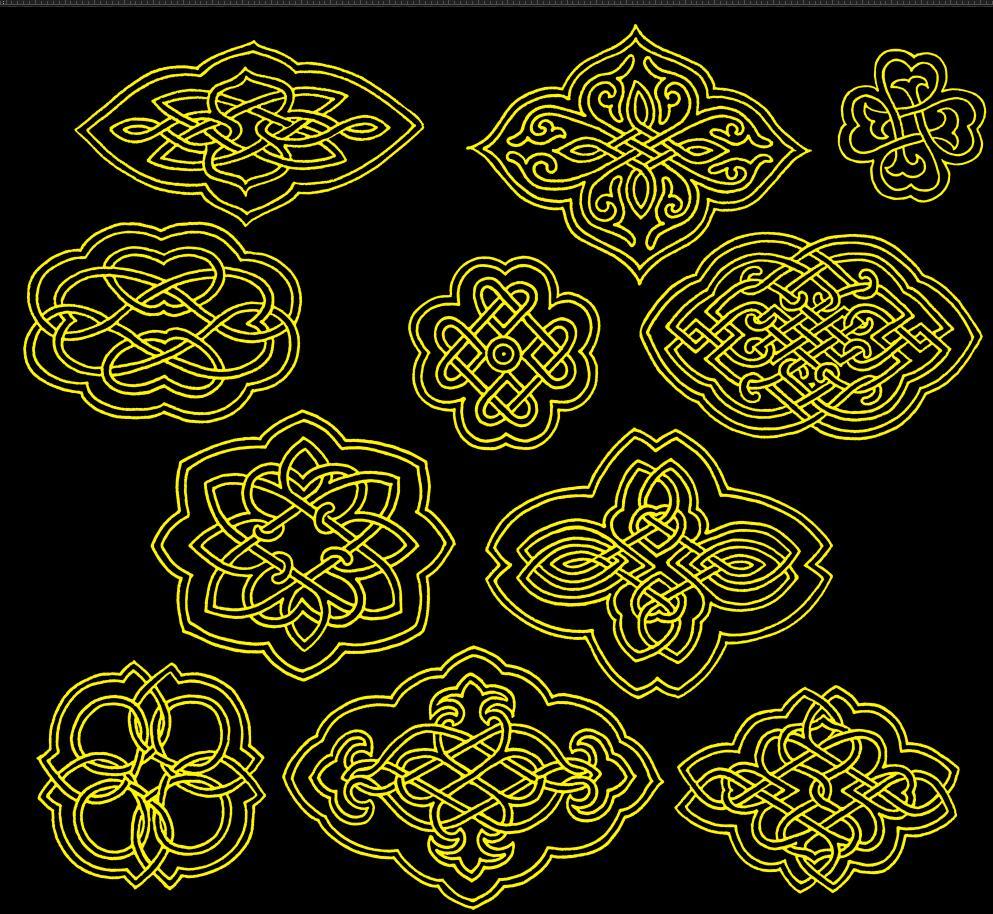 蒙古图案--圆形图案psd格式 第2张