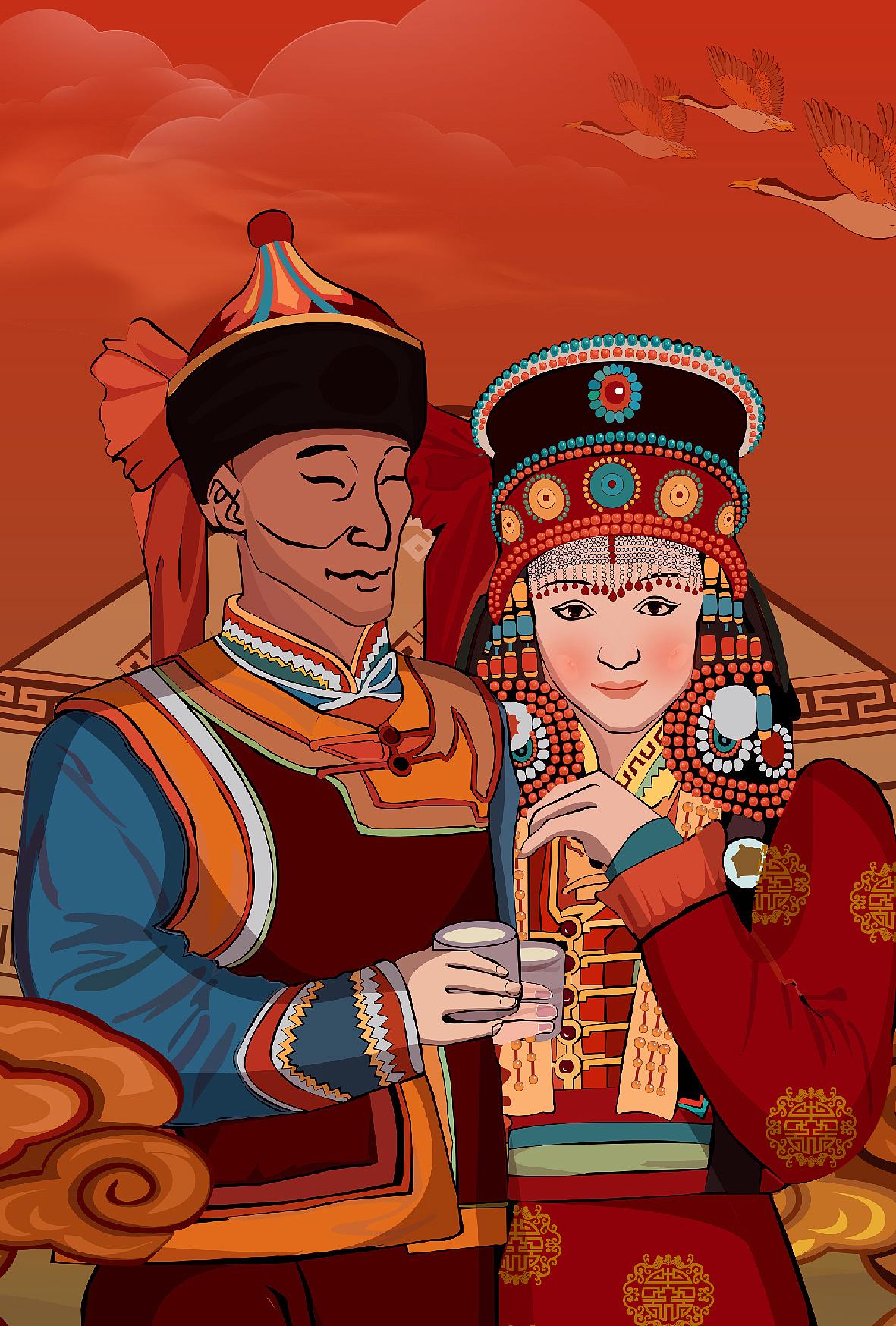 蒙古族小插画 第10张