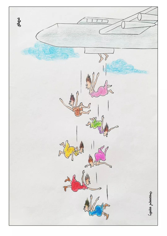 蒙古族漫画家海泉这一组作品令人脑洞大开 第19张