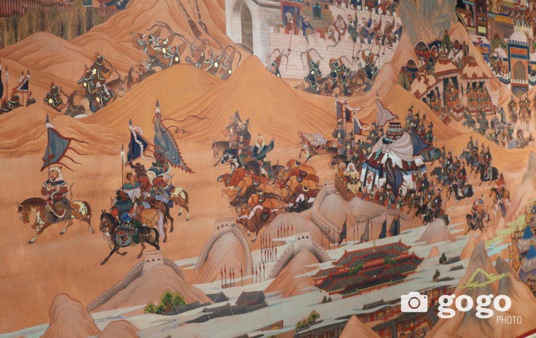 14米长的成吉思汗绘画作品亮相蒙古国乌兰巴托 第5张