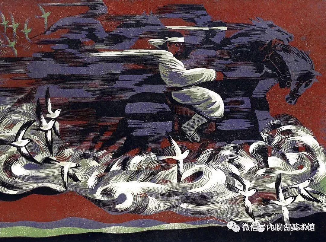 第三届内蒙古版画作品展览 在呼和浩特内蒙古美术馆开幕 第21张