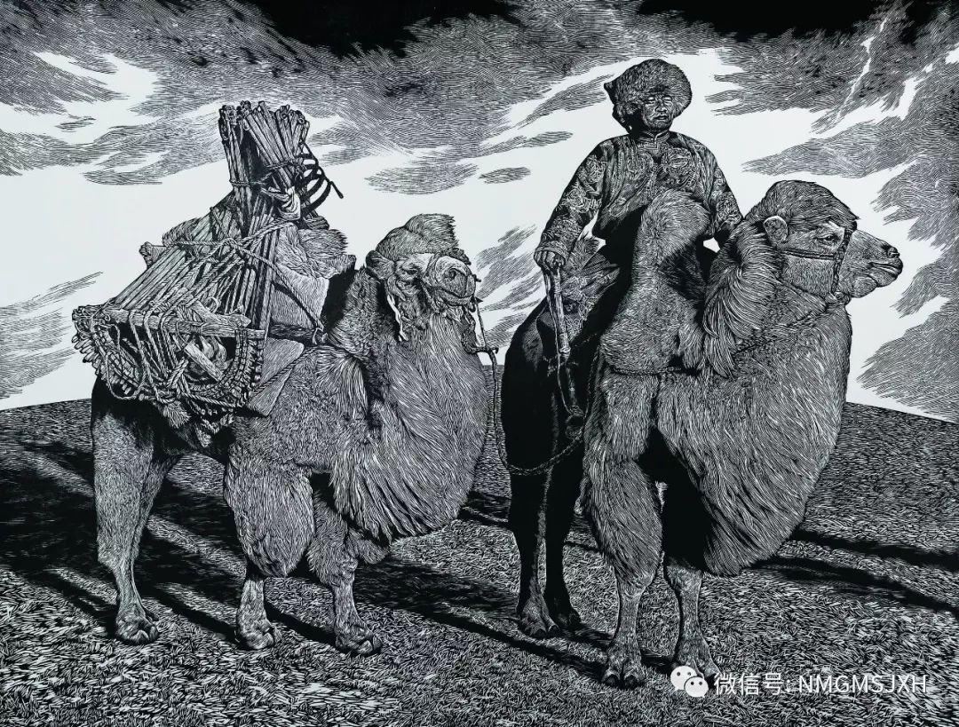 第三届内蒙古版画作品展览 在呼和浩特内蒙古美术馆开幕 第25张