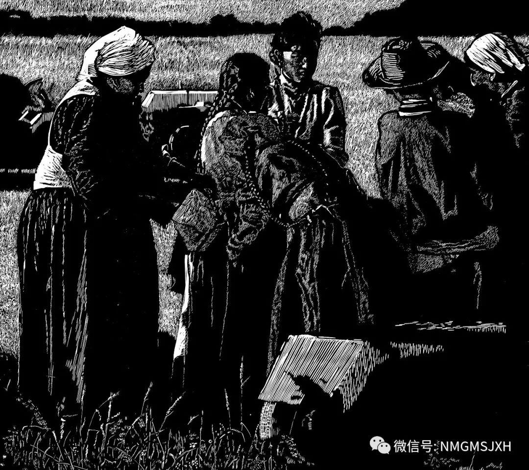 第三届内蒙古版画作品展览 在呼和浩特内蒙古美术馆开幕 第33张