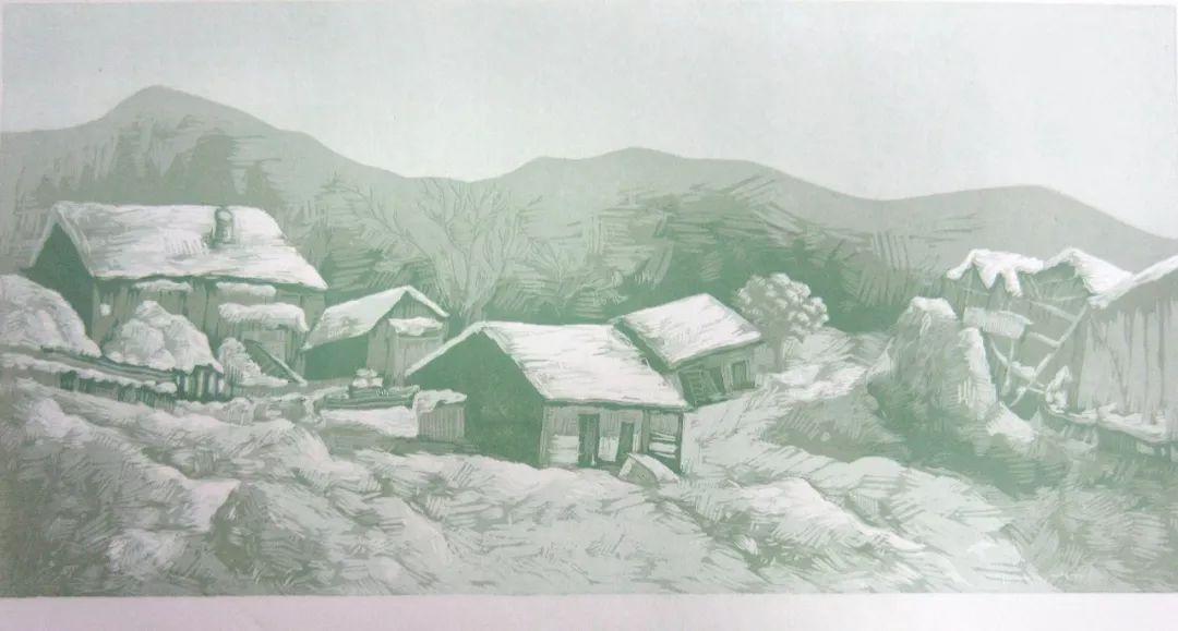 【作品选登】赛罕区美术家协会常灵龄版画作品欣赏 第7张