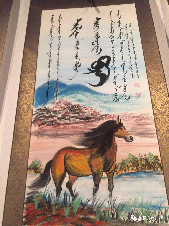 查干森布尔蒙古文书法,绘画展在呼和浩特开展 第18张