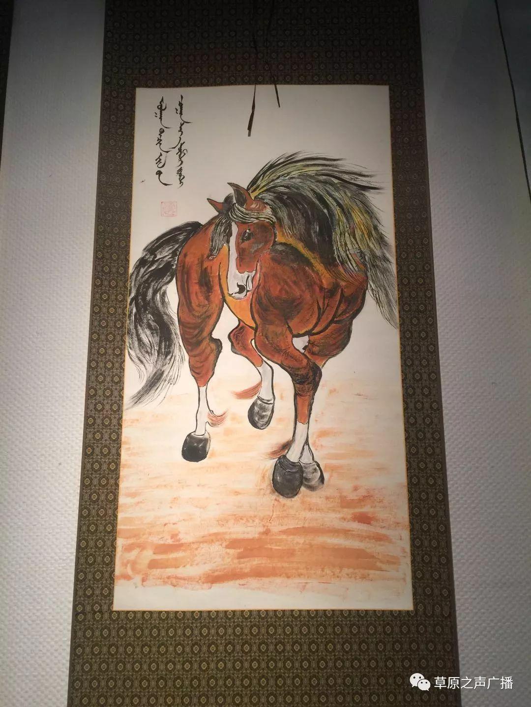 查干森布尔蒙古文书法,绘画展在呼和浩特开展 第24张