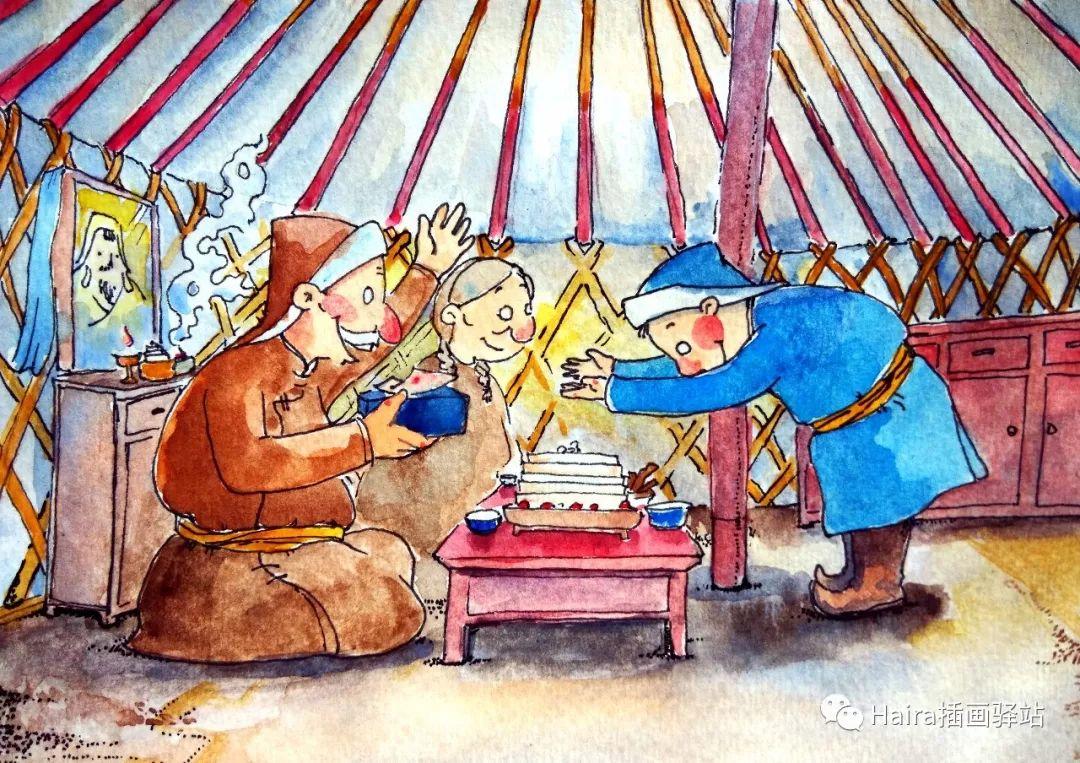 访谈 |蒙古族插画家阿拉坦苏那嘎的创作故事 第6张