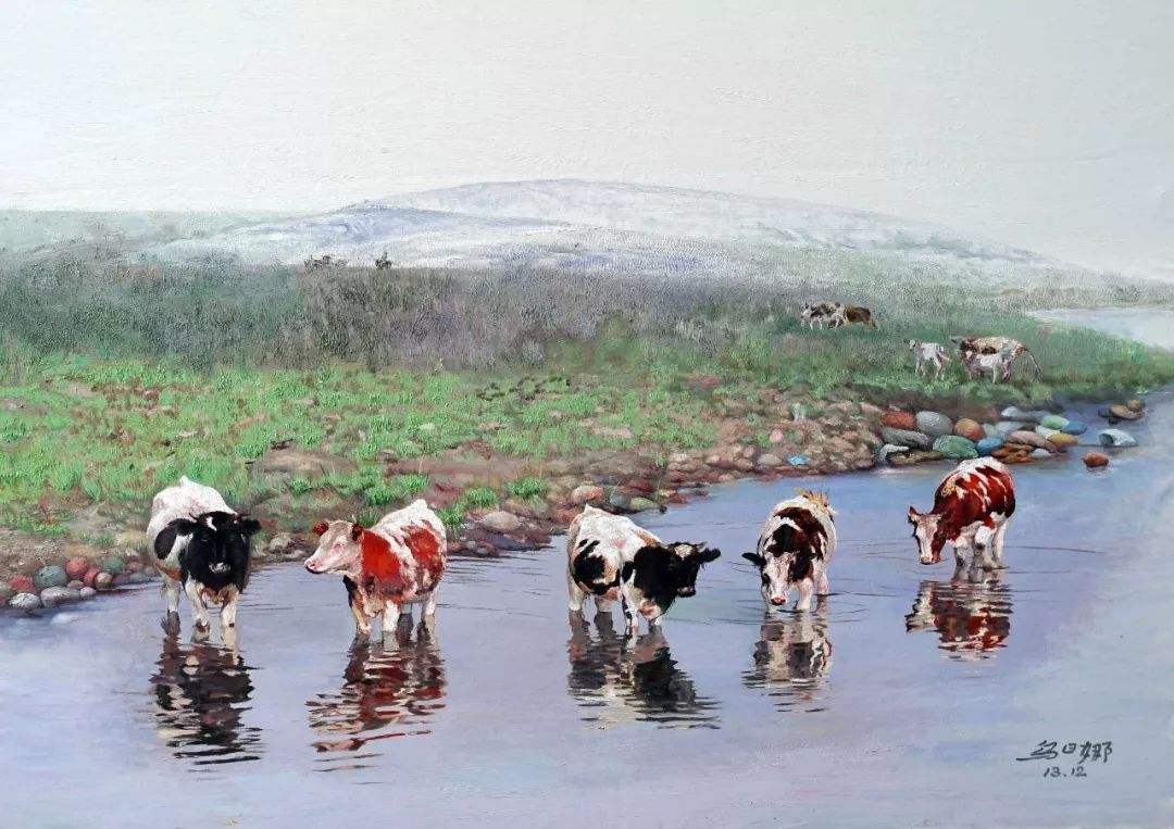 心灵深处的绿色草原 ——蒙古族画家乌日娜的油画 第5张
