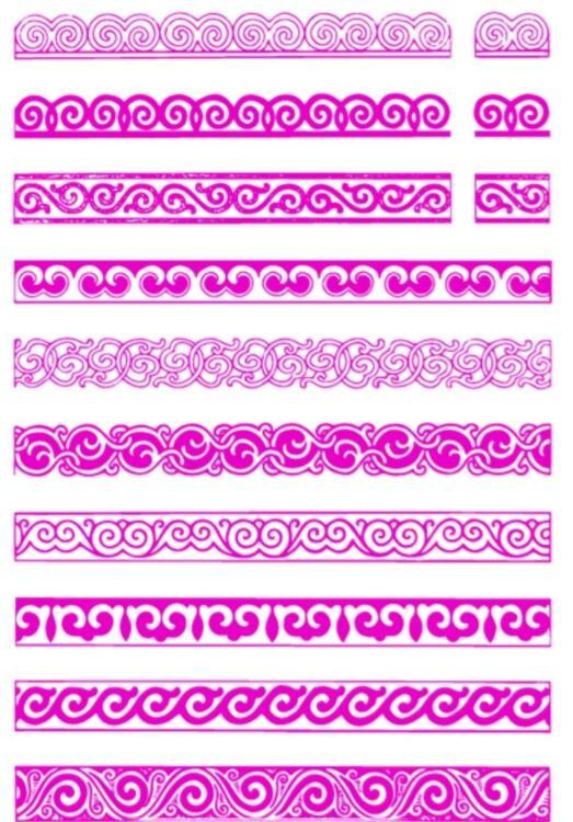 蒙古传统边框花纹图片